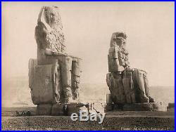 Vintage Albumen Photo By G. Lekegian Of Colosses De Memnon Egypt 1880's