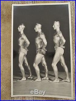 Vintage American Strong Young Men Muscles 1940 Painted Gold Skin Gay Int Photo
