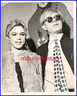 Vintage Andy Warhol Edie Sedgwick TRAGIC STAR ICON'60s Publicity Portrait