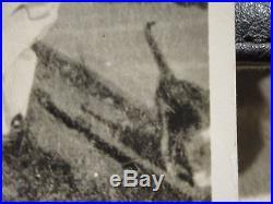 Vintage Antique Double Exposure Ghost Parents Half Cat Shadow Friend Photograph