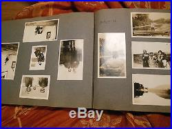 Vintage Antique Photo Album 317 Photos & 1 Postcard Black and White Photographs