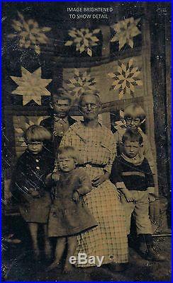 Vintage Antique Photo Grandma Moses Anna Mary Robertson Kids & Folk Art Quilt