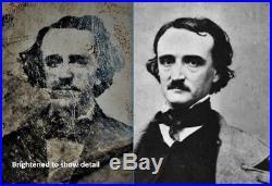 Vintage Antique Tintype Photo Macabre Poem Poetry Story Writer Edgar Allan Poe