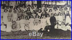 Vintage / Antique Victorian Era All Girl School Students 14 X 11 Photograph