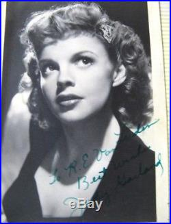 Vintage Antique WW2 1940s Photo Album With Signed Judy Garland Photograph