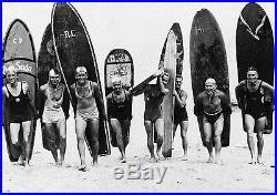 Vintage Art Surfing Surf Boards Print Canvas poster Beach Photo Black White L