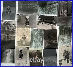 Vintage B&w Photo Film Negatives Mixed Lot Men Women Kids Military Christmas +