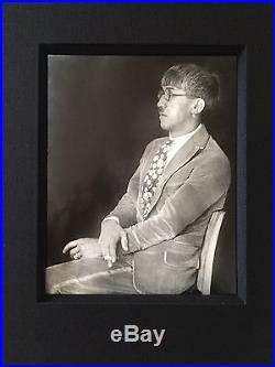 Vintage Berenice Abbott Silver Gelatin Black & White Foujita Print Photograph