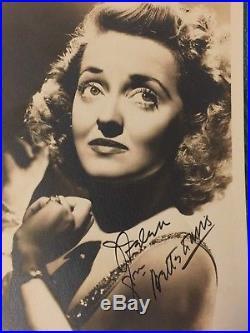 Vintage Bette Davis Signed Publicity photo 5x7 with Original envelope