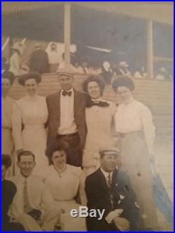 Vintage Block Island Rhode Island Beach Cabinet Photo Souvenir 1890's-1900's