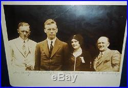 Vintage Charles Lindbergh Classic Silver Print Photograph-Rare