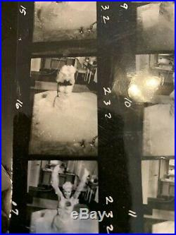 Vintage Contact Sheet Photograph of Jayne Mansfield in bubble bath