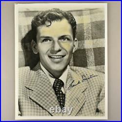 Vintage Frank Sinatra Rat Pack Singer Actor Autograph Signature B&W Photo 8x10