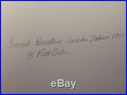 Vintage Gelatin Silver Ruth Orkin photograph of Leonard Bernstein, 1947