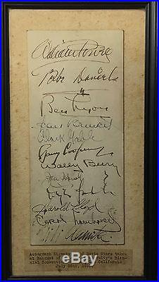 Vintage Hollywood autographs - Carole Lombard, Clark Gable, Gary Cooper, others