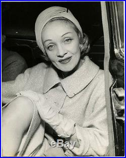 Vintage Iconic Large Format Marlene Dietrich in Paris Candid Glamour Photograph