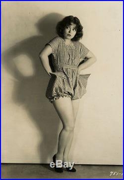 Vintage Jazz Age Pin-Up Clara Bow Sassy Sexy Flapper Fashion Photograph 1929