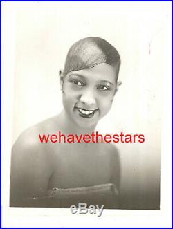 Vintage Josephine Baker GORGEOUS BEAUTY'27 Press Portrait by HENRI MANUEL