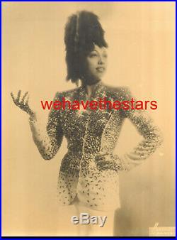 Vintage Josephine Baker GORGEOUS GLAMOUR 30s Pub Portrait by HARCOURT PARIS