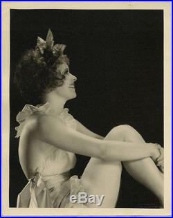 Vintage Large Format Fine Art Deco Photograph 1928 Clara Bow Risqué Flapper Rare