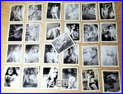 Vintage Lot of 25 Nude Girls/Women B&W Risque Poloroid Photographs #002