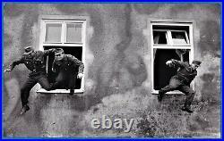 Vintage Magnum photo foto by Erich Lessing Bundeswehr soldiers jump Germany 1954
