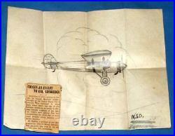 Vintage Naval Aviator Photo Album & Documents Panama Canal Zone 1929 Lindbergh