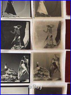 Vintage Nude Photos. Set Of 18 Black And White, Negative And Red Exposed Photos