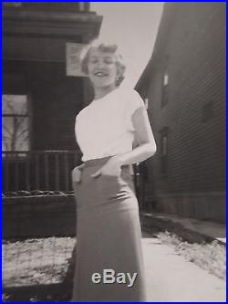 Vintage Optical Illusion Shadow Booty Vernacular Snapshot June 11 1950 IL Photo