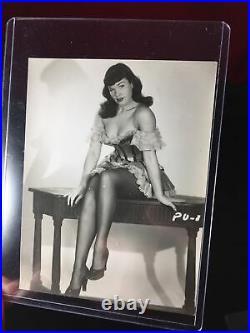 Vintage Original 50s Beautiful Bettie Page Risque Pinup Gelatin Silver Photo #1