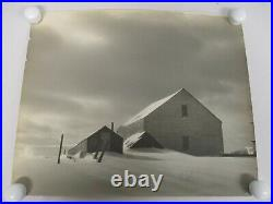 Vintage Original L. Whitney Standish Photograph Of Barn In The Snow