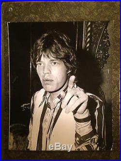 Vintage Original Press Photo Mick Jagger by Robert Fitzgerald