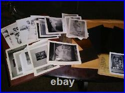 Vintage PIN-UP Nude Risqué Hollywood B&W Photograph Album 1940s with negatives
