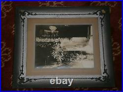 Vintage POST MORTEM Funeral Casket Photo YOUNG WOMAN Mourning Frame