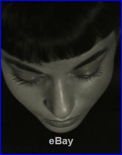 Vintage Peter Basch Large Format Dramatic Fine Art Close Up Portrait Photograph