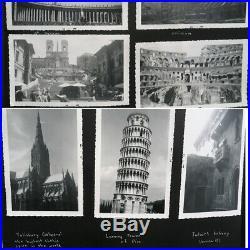 Vintage Photo ALBUM with 300 Mid Century Photos AMAZING Woman's Life 40s-50s
