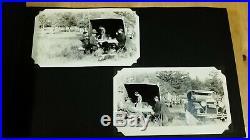 Vintage Photo Album with 110 B&W Western Landscape & Portrait Photos c. 1920's