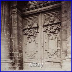 Vintage Photo PARIS France by Eugène ATGET -Porte de l'Eglise Saint Gervais 1898