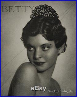 Vintage Photoengraving, William Mortensen Betty 1933