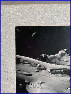 Vintage Photograph (Marked Brad Washburn Mt Blanc) Bradford Washburn