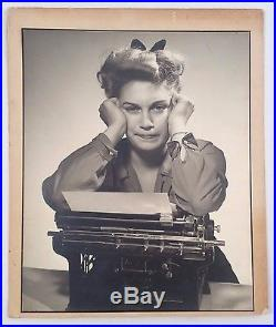 Vintage Photograph of Vintage Typewriter and Woman (15 X 18)