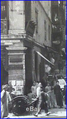Vintage Press Photograph Queens Road Central Hong Kong Street Scene