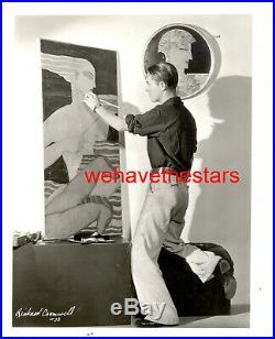 Vintage Richard Cromwell QUITE HANDSOME'31 ARTIST AT HOME Publicity Portrait