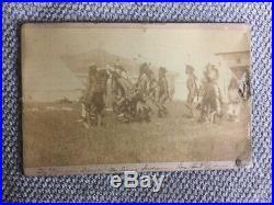 Vintage Sioux Indians Omaha War Dance Rose Bud Agency Photo In Original Frame