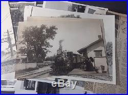 Vintage Train Locomotive Railroad 163 Photo Lot Bw Black White Photographs