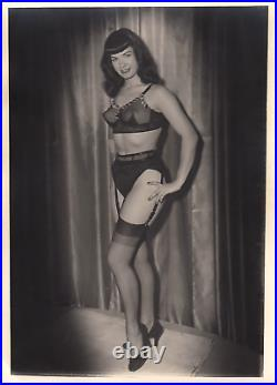 Vintage Unpublished 5x7 Bettie Page Photo Camera Club Extremely Rare