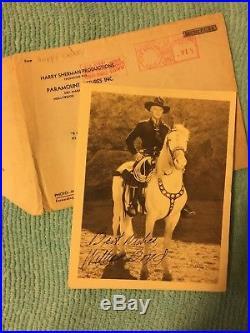 Vintage William Boyd signed Photo Hopalong Cassidy 5x7 with Orginal Envelope