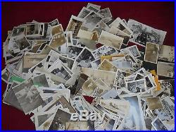 Vintage antique early 1900's black & white snapshot photos over 1000