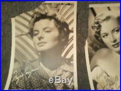 Vintage b & w fan photo lot 5 X 7