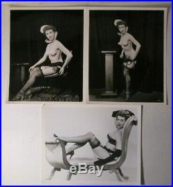 Vintage burlesque film'PEEK a BOO' 1953 lot of 25 publicity photos STRIPPERS